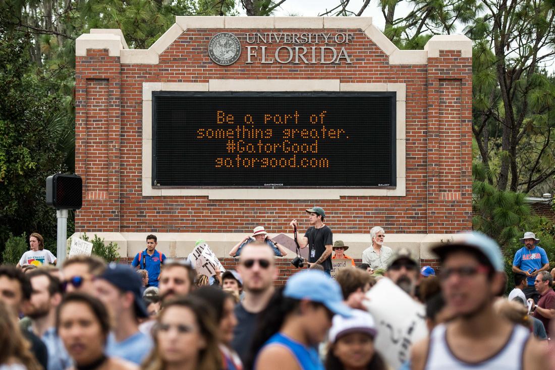 Richard Spencer visits UF Gainesville Photos 170529