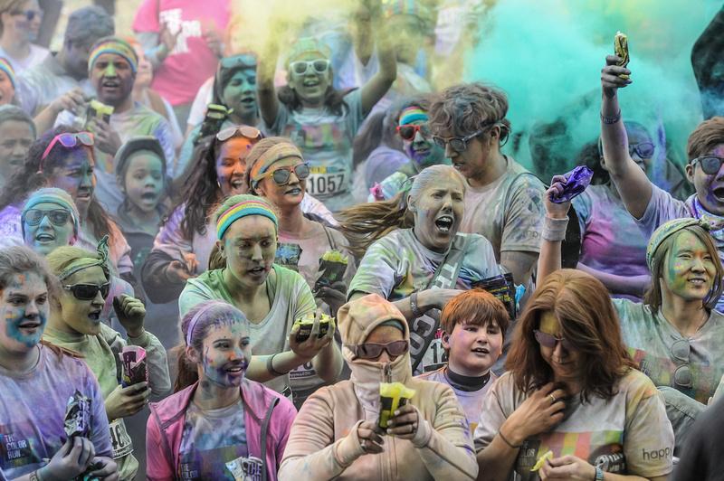 Color Run photos in Columbia, SC - March 2014 - By South Carolina Photographer Sean Rayford
