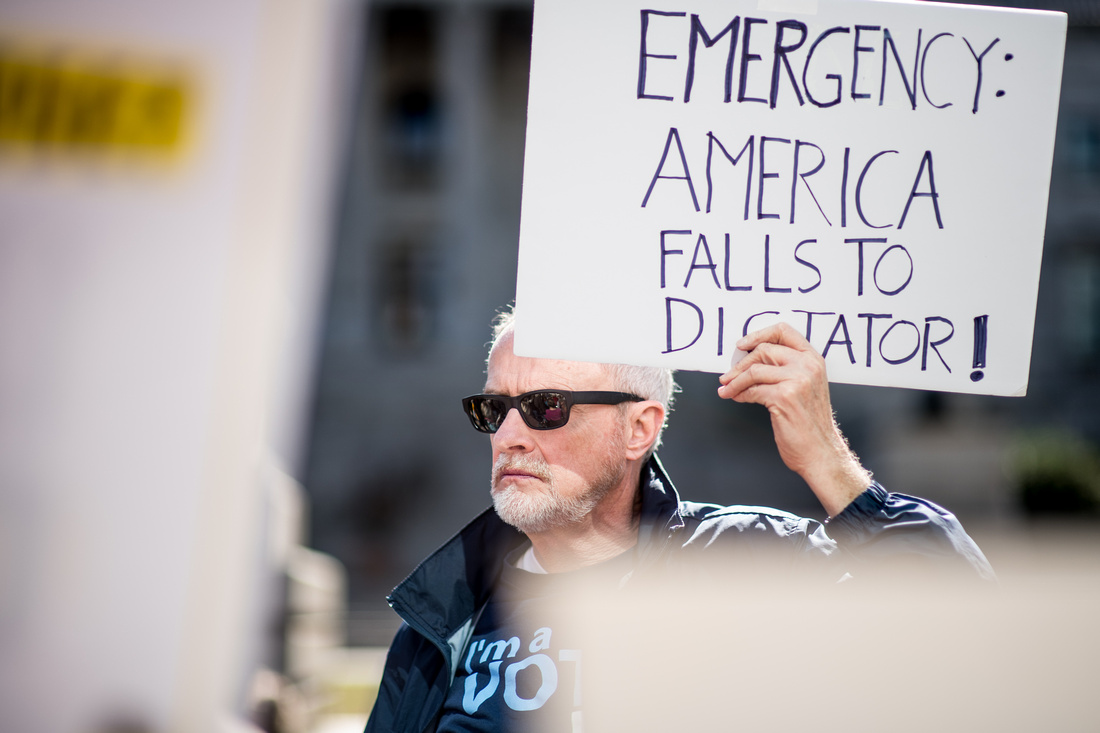 Fake National Emergency Protest Columbia 08489