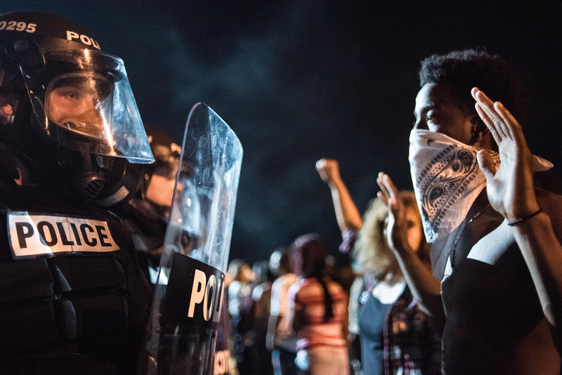 Charlotte Protests  by Columbia Sc photographer Sean Rayford