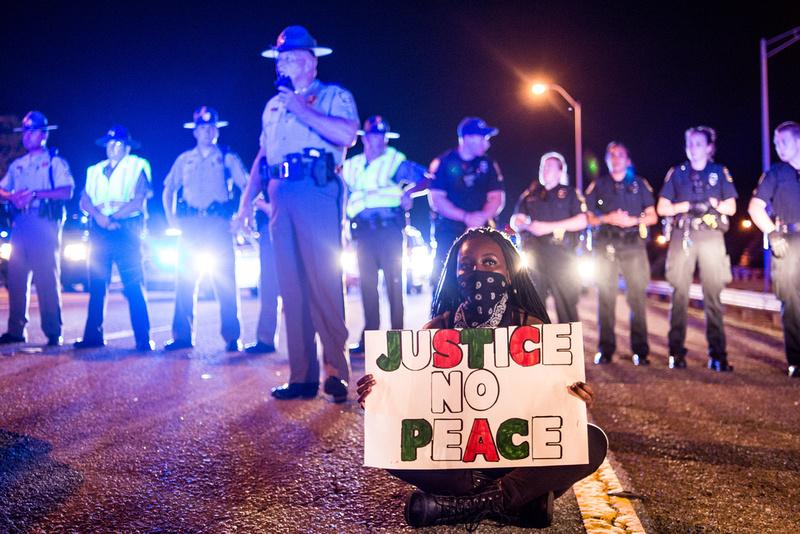 Protest photo by South Carolina photojournlaist Sean Rayford