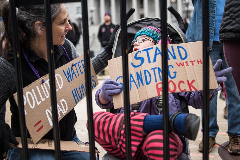columbia Wells Fargo NoDAPL Protest Photos-3