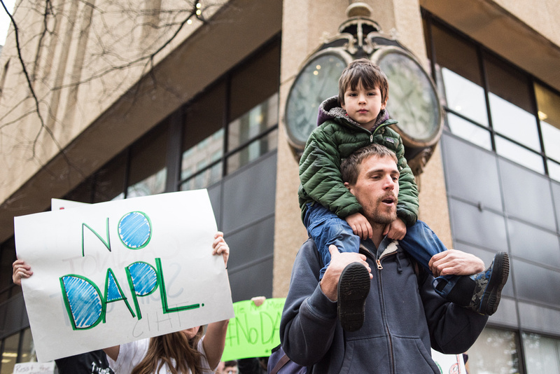 columbia Wells Fargo NoDAPL Protest Photos-13