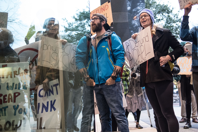 columbia Wells Fargo NoDAPL Protest Photos-22