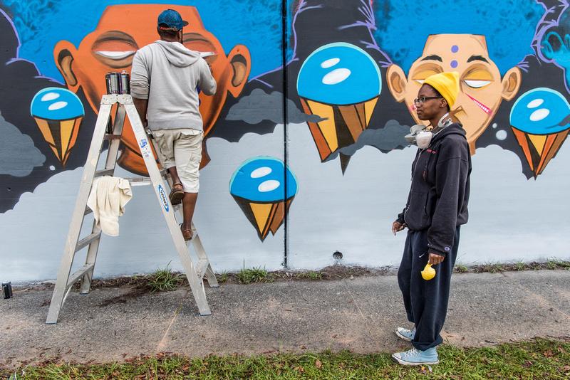 Cedric Umoja Mural columbia sc 25502_