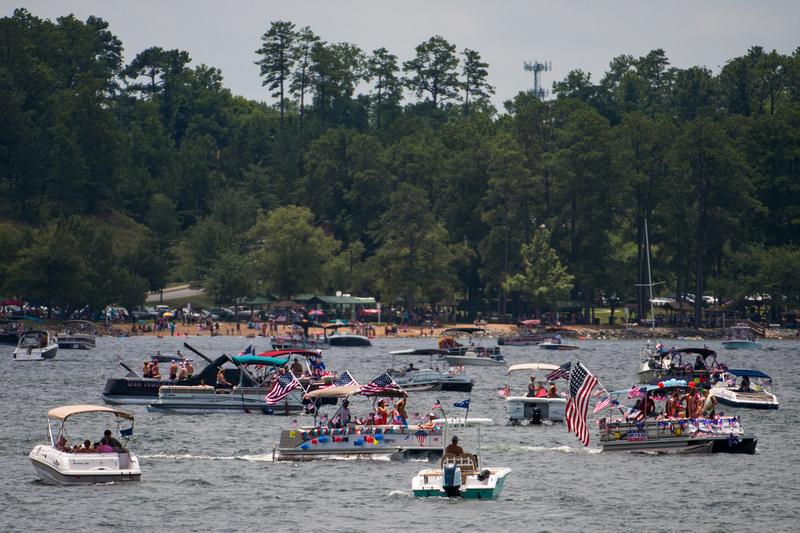 fourth of july boat parade lake murray 60347-3