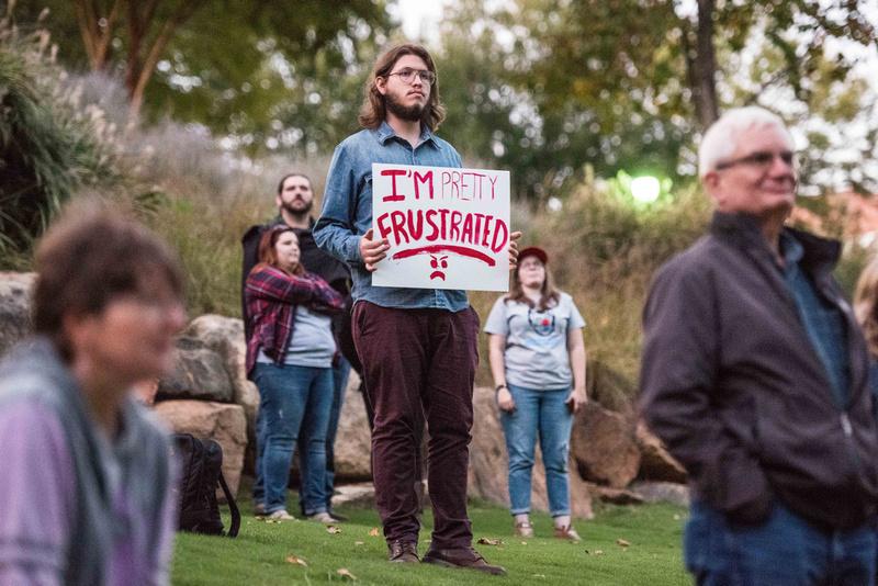 Anti Trump McMaster protest rally greenville sc  167257