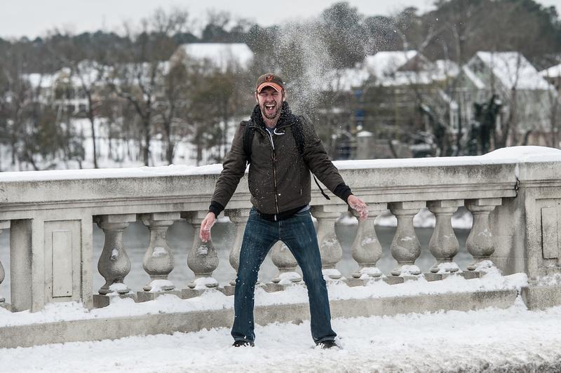 Snow in Columbia SC - Jan 2014