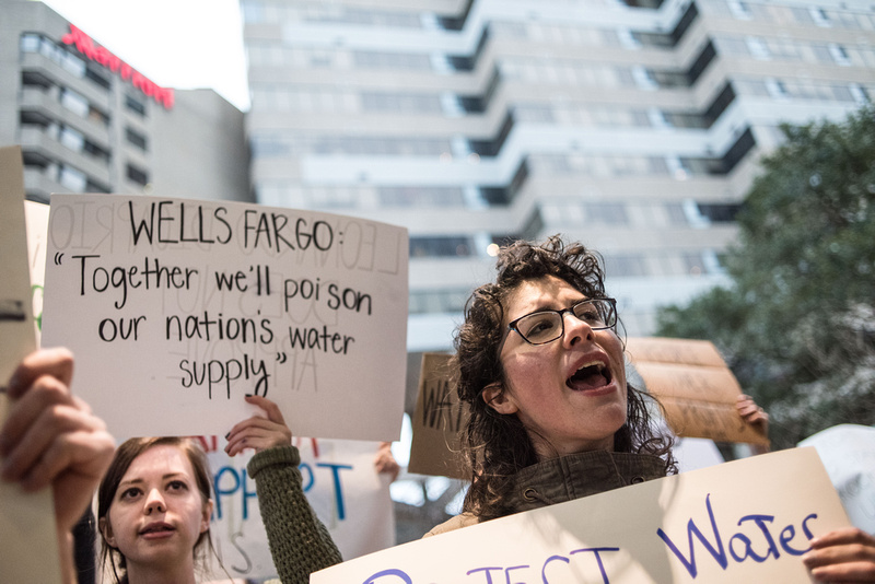 columbia Wells Fargo NoDAPL Protest Photos-23