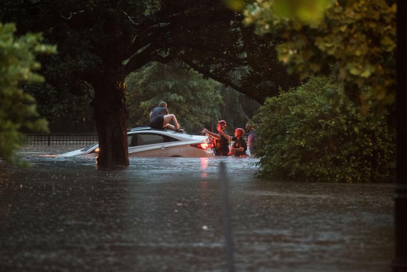 Flash Flooding Columbia SC Photos