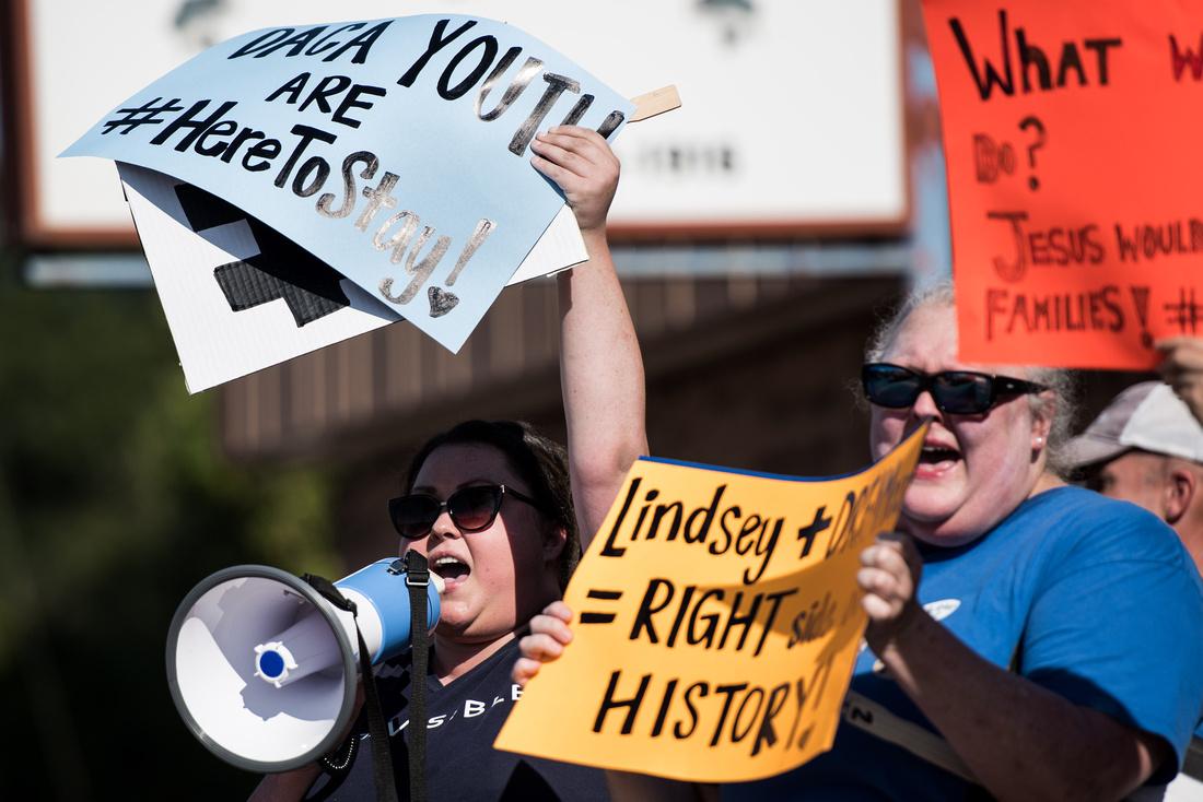 Chapin Labor Day Parade DACA protest Photos