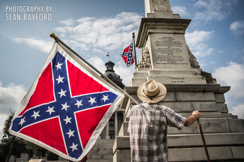 Confederate flag in Columbia SC - June 27 2015