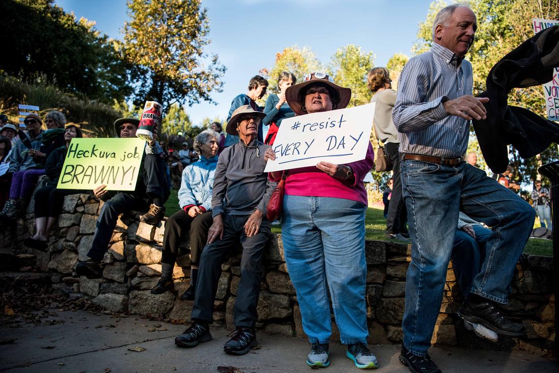 Anti Trump McMaster protest rally greenville sc  166571