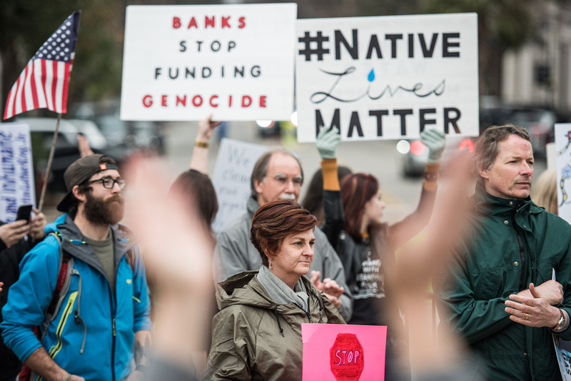 columbia Wells Fargo NoDAPL Protest Photos-9