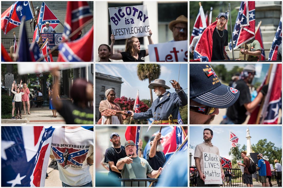 Confederate Flag Raising Columbia SC by South Carolina photographer Sean Rayford