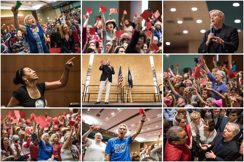 Photos: Lindsey Graham Town Hall -  Columbia SC