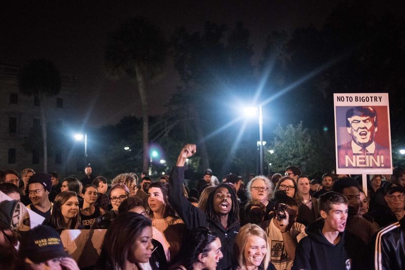 Trump protest columia sc photos 15571